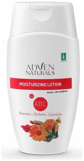 Adven Naturals Moisturizing Lotion With Abc(Aloevera, Berberis & Calendula)200 ml ( Pack of 2 )
