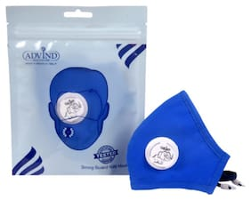 Advind Healthcare N95 Kids Mask With One Valve XS (3-5 Years) Blue (Pack Of 1)