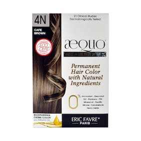 Aequo bypurenaturals Hair Color Organic 4N Cafe  Medium Brown French Import Kit (Ecocert Certified) - 160 ml