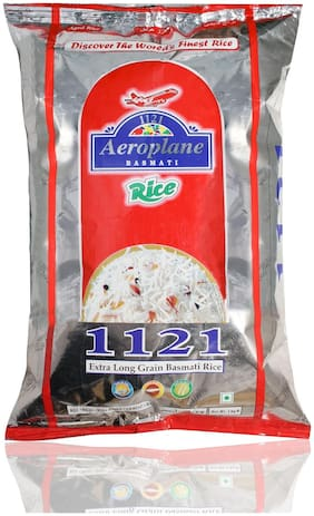 Aeroplane 1121 Steam Long Grain Rice 5Kg Pack Of 2