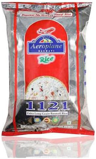 Aeroplane 1121 Steam Long Grain Rice 1Kg Pack Of 5