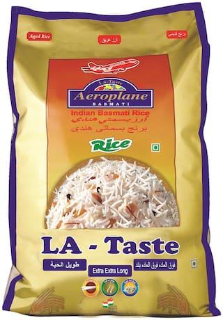 Aeroplane Raw Lataste Basmati Rice 1Kg Pack Of 5