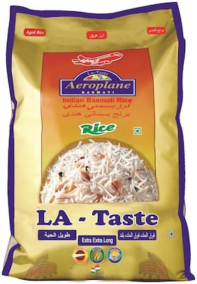 Aeroplane Raw Lataste Basmati Rice 5Kg Pack Of 2