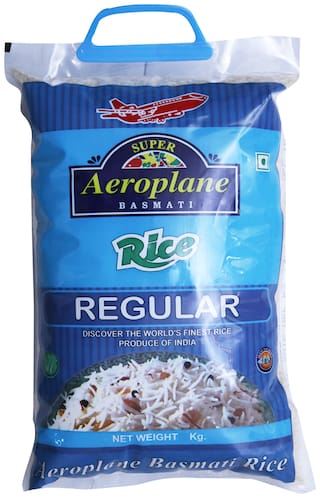 Aeroplane Regular Basmati Rice 5Kg Pack Of 2