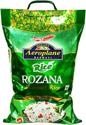 Aeroplane Rozana Basmati Rice Green 5 kg (Pack Of 1)