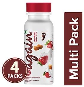 Again Milk Drink - Strawberry  Chocolate  Jaggery 4x200 ml