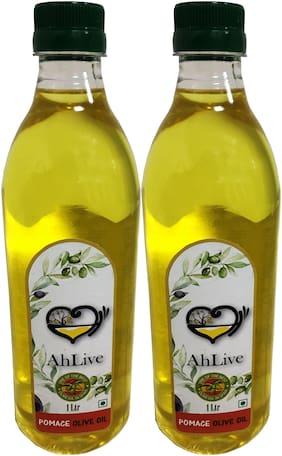 Ahlive Pomace Olive Oil - 1 L Pack Of 2