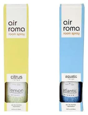 AirRoma Combo of Atlantic Breeze Fragrance Air Freshener Spray 200 ml & Green Lemon Fragrance Air Freshener Spray 200 ml