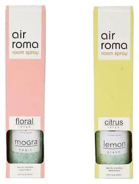 AirRoma Combo of Mogra Magic Fragrance Air Freshener Spray 200 ml & Lemon Grass Fragrance Air Freshener Spray 200 ml