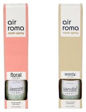AirRoma Combo of Jasmine Flower Fragrance Air Freshener Spray 200 ml & Sandal Sweet Fragrance Air Freshener Spray 200 ml