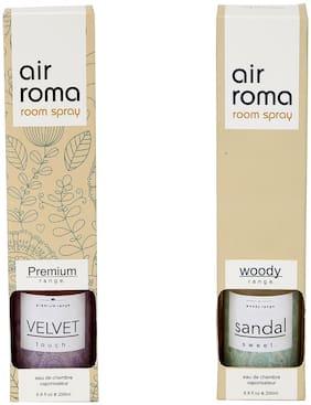 AirRoma Combo of Velvet Fragrance Air Freshener Spray 200 ml & Sandal Sweet Fragrance Air Freshener Spray 200 ml