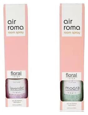 AirRoma Combo of Mogra Magic Fragrance Air Freshener Spray 200 ml & Lavender Fresh Fragrance Air Freshener Spray 200 ml