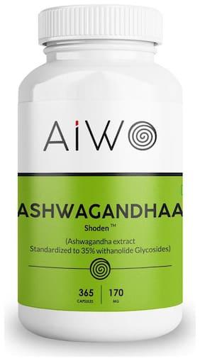 Aiwo Ashwagandhaa - 365 Capsules - 170Mg Each Immunity/Immunity Booster