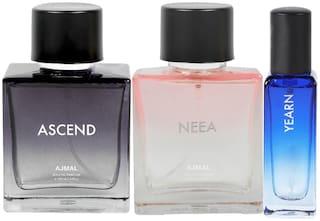 Ajmal Ascend & Neea EDP each 100 ml & Yearn EDP 20 ml Pack of 3  for Men & Women