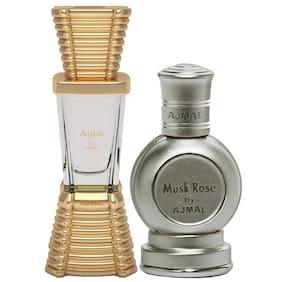 Ajmal Aura 10 ml x 1 & Musk Rose 10 ml x 1 Pack of 2