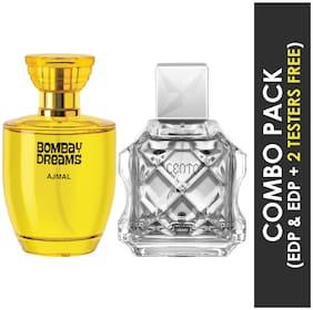 Ajmal Bombay Dreams EDP Floral Fruity Perfume 100ml for Women and Cento EDP Citrus Aromatic Perfume 100ml for Men