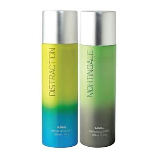 Ajmal Distraction & Nightingale Deodorant High Quality Deodorants 200 ml each (Pack of 2)