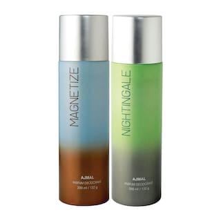Ajmal Magnetize & Nightingale Deodorant High Quality Deodorants 200 ml each (Pack of 2)