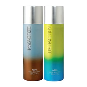 Ajmal Magnetize & Distraction Deodorant High Quality Deodorants 200 ml each (Pack of 2)