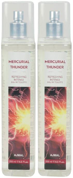 Ajmal Mercurial Thunder Edt Combo Pack Of 2 Each 250Ml (Total 500Ml) For Men & Women