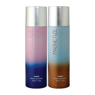 Ajmal Persuade & Magnetize Deodorant High Quality Deodorants 200 ml each (Pack of 2)