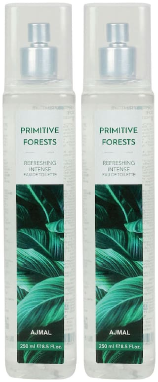 Ajmal Primitive Forests Edt Combo Pack Of 2 Each 250Ml (Total 500Ml) For Men & Women