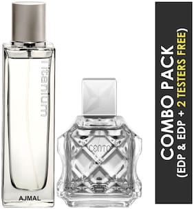 Ajmal Titanium EDP Citrus Spicy Perfume 100ml for Men and Ajmal Cento EDP Citrus Aromatic Perfume 100ml for Men