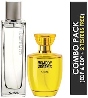 Ajmal Titanium EDP Citrus Spicy Perfume 100ml for Men and Ajmal Bombay Dreams EDP Floral Fruity Perfume 100ml for Women