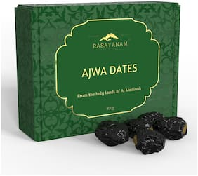 Al Madina Ajwa Dates Khajoor (300 G) | From The Finest Farms Of Mecca
