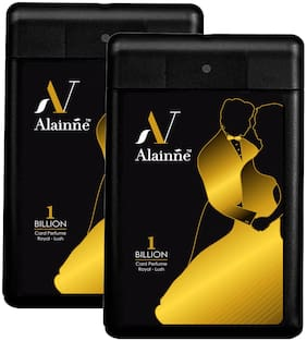 Alainne One Billion Royal - Lush Pocket Perfume Twin Pack For Men (18 ml Each)