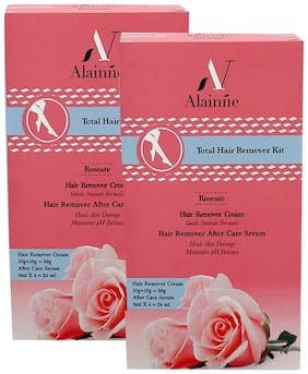 Alainne Total Hair Remover Kit Roseate 100g (50gX2)