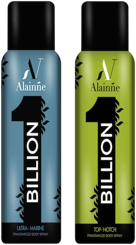 Alainne One Billion Ultra- Marine & Top- Notch Body Spray Combo For Men(150 ml Each)