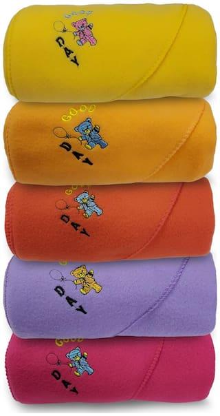 alamodey Hooded Crib Baby Blanket Multi (Pack of 5)