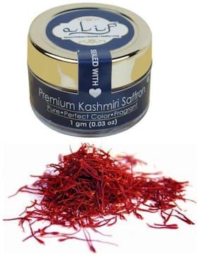 Alif Pure & Premium Kashmiri Saffron (Kesar) 1 g