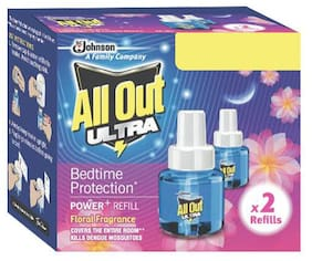 All Out Mosquito Repellent Refill - Floral Fragrance, Power Plus 90 gm