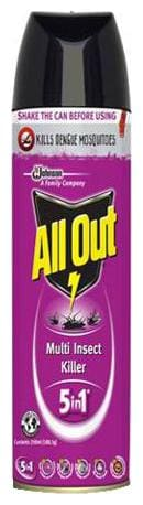 All Out Multi Insect Killer 5 In 1 250 Ml