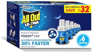 All Out Power Plus Ultra Six Refill Saver Pack