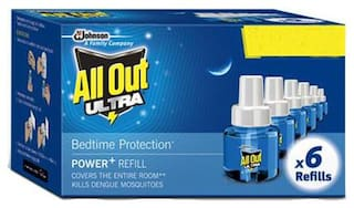 All Out Ultra Refill - Liquid Vaporizer 45 ml (Pack of 6)