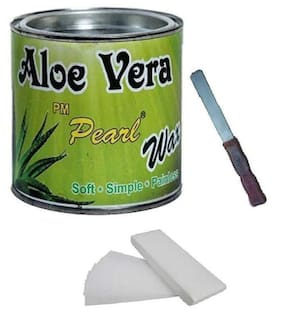 Aloevera Body Wax 600 g For Hair Removal With 90 Wax Strips With Knife