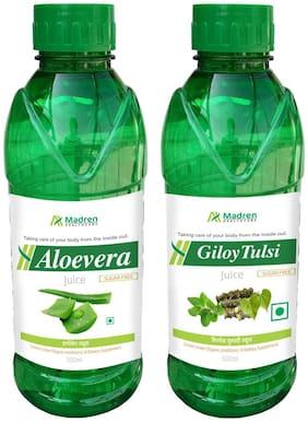 Madren Healthcare Aloevera & Giloy Tulsi Juice 500ml. (Combo Pack)