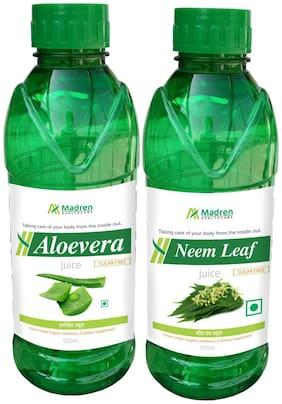 Madren Healthcare Aloevera & Neem Juice 500ml. (Combo Pack)