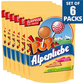 Alpenliebe Pop Lollipop Assorted Flavours 5 Pcs 40G  Pack Of 6