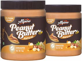 Alpino Natural Honey Peanut Butter Smooth 2kg (1kg Pack Of 2)