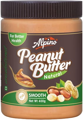 Alpino Natural Peanut Butter Smooth 400g