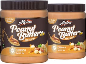 Alpino Natural Honey Peanut Butter Crunch 2kg (1kg Pack Of 2)
