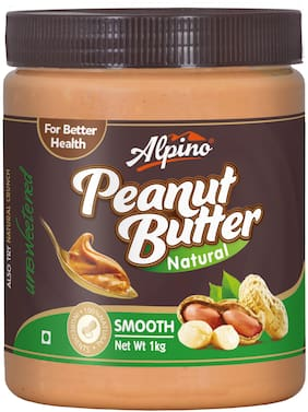 Alpino Natural Smooth Peanut Butter 1kg (Unsweetened)