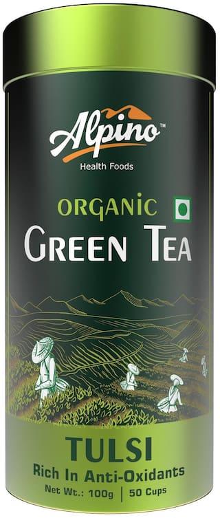 Alpino Organic Tulsi Green Tea 100 g (Pack of 1)