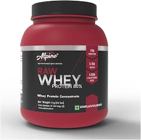 Alpino Raw Whey Protein 80%  1kg / 2.2lb (Unflavoured)