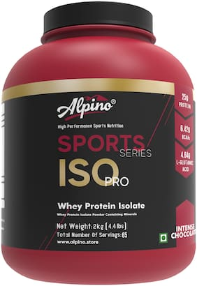 Alpino Sports Series ISO-PRO 100% Whey Protein Isolate - 2kg / 4.4lbs Intense Chocolate