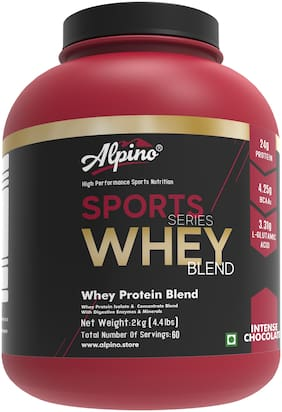 Alpino Sports Series 100% Whey Protein Blend - 2kg / 4.4lbs Intense Chocolate